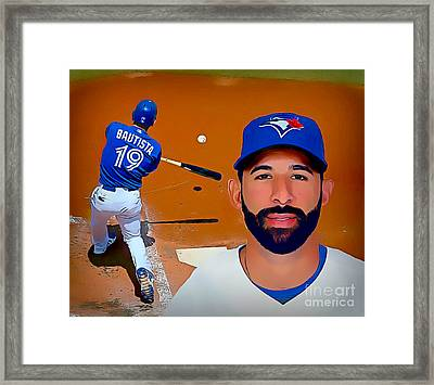 Jose Bautista Baseball Poster Framed Print