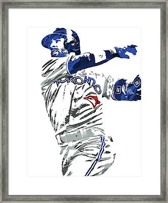 Jose Bautista Toronto Blue Jays Pixel Art 2 Framed Print