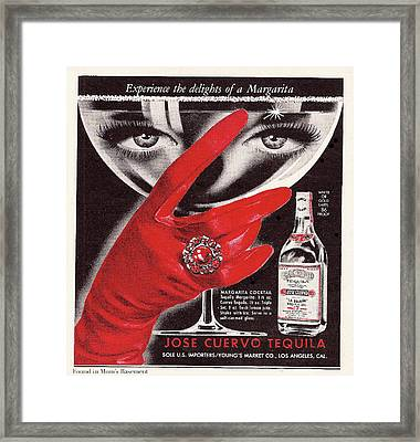 Jose Cuervo Tequila Experience The Delights Of A Margarita Framed Print