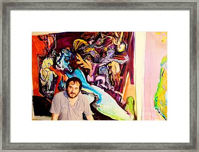 Jose Maria Antolin Before Painting Framed Print by Chuck Taylor