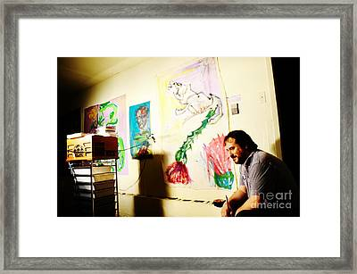 Jose Maria Antolin In Studio Bryan Framed Print by Chuck Taylor