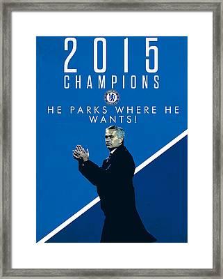Jose Mourinho Framed Print by Semih Yurdabak