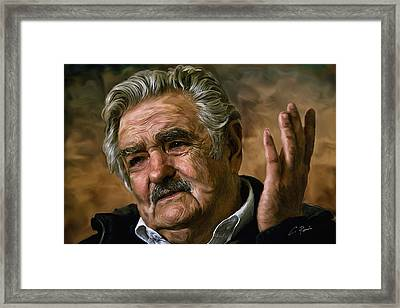 Jose Mujica Framed Print