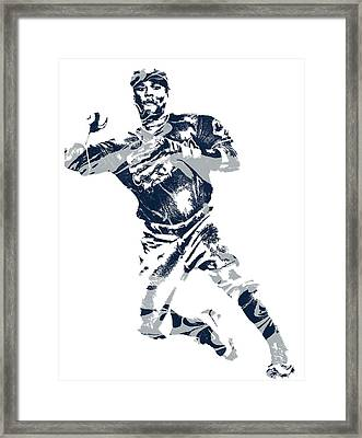 Jose Ramirez Cleveland Indians Pixel Art 1 Framed Print