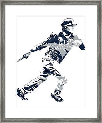Jose Ramirez Cleveland Indians Pixel Art 2 Framed Print