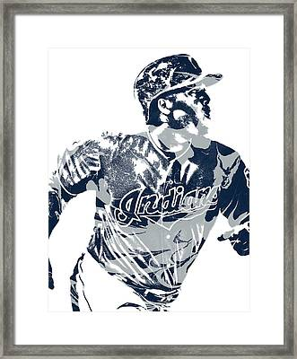 Jose Ramirez Cleveland Indians Pixel Art 3 Framed Print