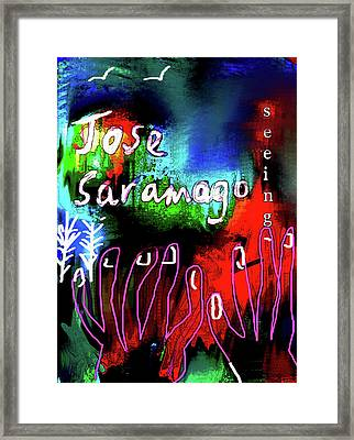 jose saramago  Seeing  Framed Print by Paul Sutcliffe
