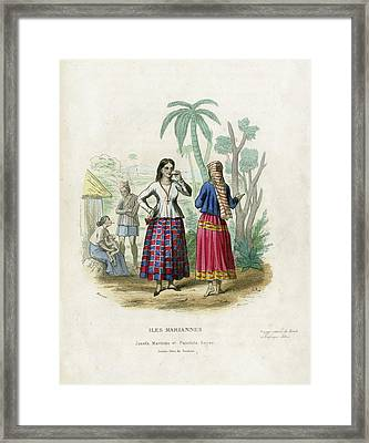 Framed Print featuring the drawing Josefa Martines Et Panchita Reyes by Massart