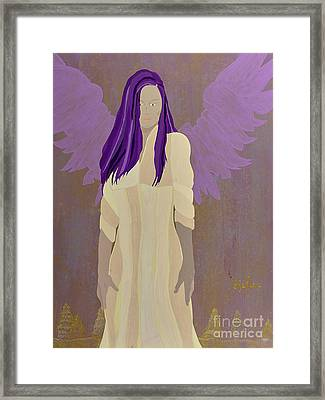 Josefina,my Guardian Angel Framed Print