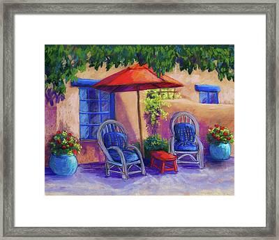 Josefina's Courtyard Framed Print by Candy Mayer
