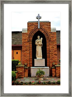 Joseph And Baby Jesus Framed Print by Richard Jenkins