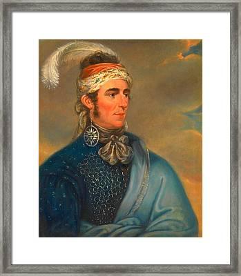 Joseph Brant 3 Framed Print by Ezra Ames