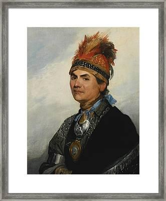 Joseph Brant Framed Print by Gilbert Stuart