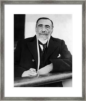 Joseph Conrad, 1923 Framed Print