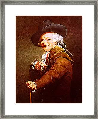 Joseph Ducreux Framed Print by Iguanna Espinosa