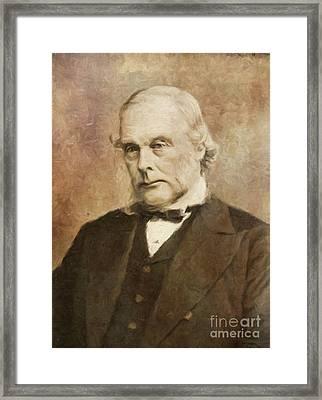 Joseph Lister, Medical Pioneer By Mary Bassett Framed Print by Mary Bassett
