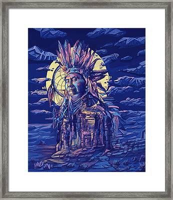Joseph Nez Perce Decorative Portrait 2 Framed Print by Bekim Art