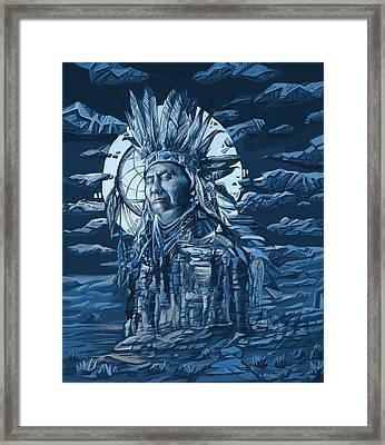 Joseph Nez Perce Decorative Portrait Framed Print by Bekim Art