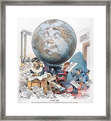 Joseph Pulitzer Cartoon Framed Print by Granger