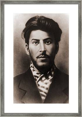 Joseph Stalin 1879-1953, In An Early Framed Print
