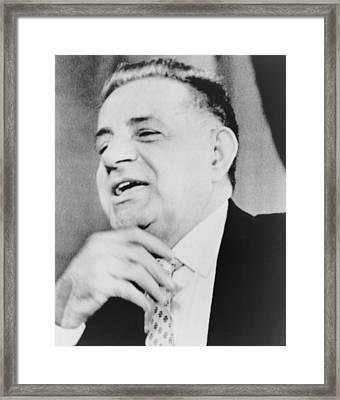 Joseph Valachi, Singing Framed Print by Everett