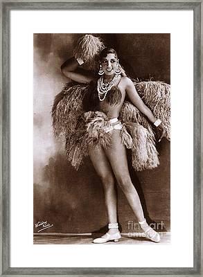Josephine Baker Circa 1927  Framed Print