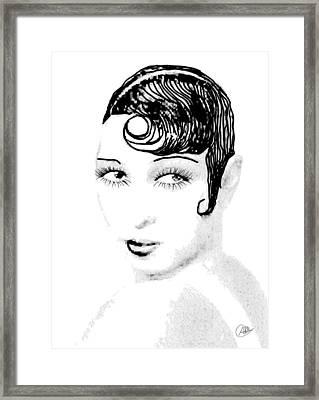Josephine Baker Pencil Framed Print by Quim Abella