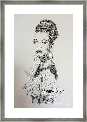 Josephine Framed Print by N Willson-Strader