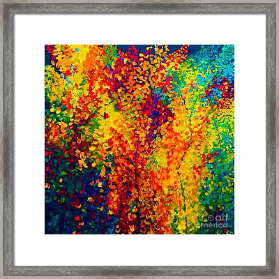 Joseph's Coat Trees Framed Print