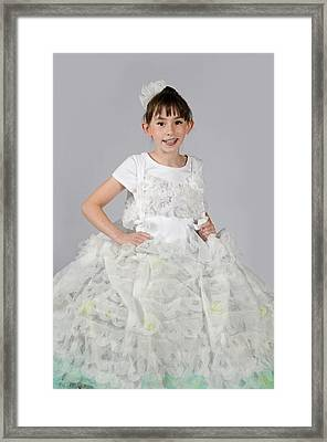 Josette In Dryer Sheet Dress Framed Print