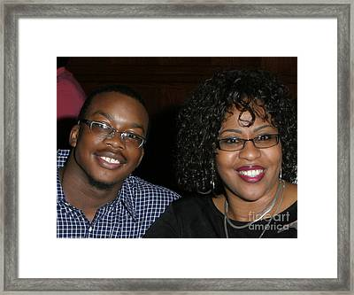 Josh And His Mom Framed Print by Angela L Walker