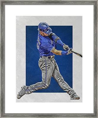 Josh Donaldson Toronto Blue Jays Art 2 Framed Print by Joe Hamilton