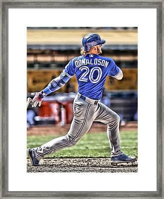 Josh Donaldson Toronto Blue Jays Framed Print by Joe Hamilton