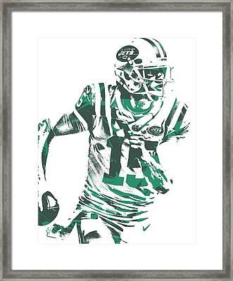Josh Mccown New York Jets Pixel Art 1 Framed Print