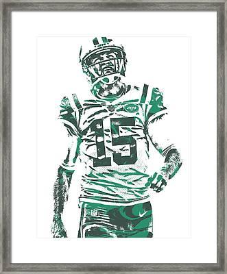 Josh Mccown New York Jets Pixel Art 2 Framed Print