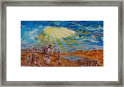 Joshua Commands The Sun To Stand Still After Dore Framed Print by Jacob Stempky