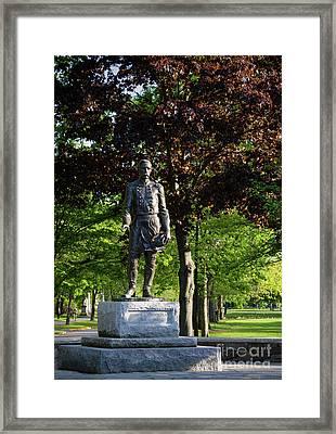 Joshua Lawrence Chamberlain, Bowdoin College Campus  #0025 Framed Print by John Bald