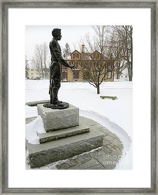 Joshua Lawrence Chamberlain Statue, Brunswick, Maine  -50415 Framed Print by John Bald