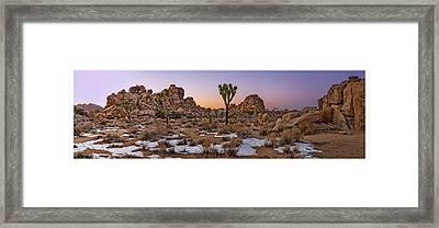 Joshua Panorama At Dusk Framed Print by Kelley King