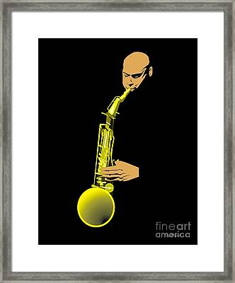 Joshua Redman Framed Print by Walter Oliver Neal