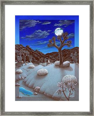 Joshua Tree At Night Framed Print by Snake Jagger