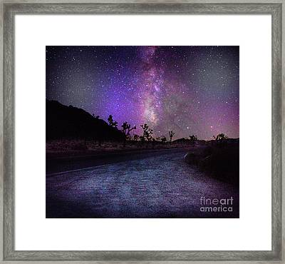 Joshua Tree Milky Way Galax Framed Print