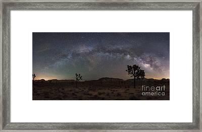 Joshua Tree Milky Way Panorama Framed Print