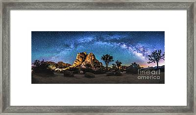 Joshua Tree Milkyway Framed Print