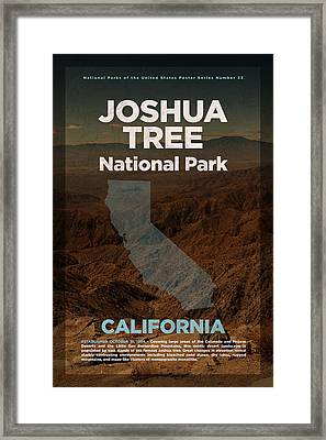Joshua Tree National Park In California Travel Poster Series Of National Parks Number 33 Framed Print by Design Turnpike