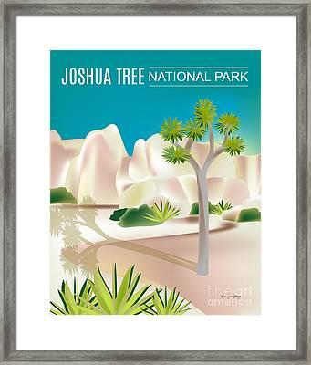 Joshua Tree National Park Vertical Scene Framed Print