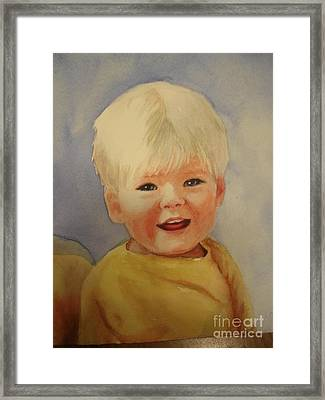 Joshua's Youngest Brother Framed Print by Marilyn Jacobson