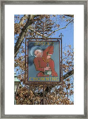 Josiah Chowning Sign Framed Print by Teresa Mucha