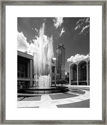 Revson Fountain Framed Print by S R Shilling