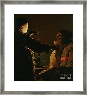 Jospeh And The Angel Framed Print